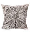 Cushion cover Labyrinth of Chartres